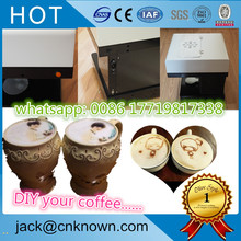 Newest automatic DIY your food cake coffe cookies digital coffee printer