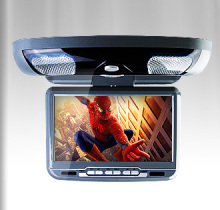 9 Inch Grey Color (Black & Beige Optional) Flip Down Car DVD Car Roof Monitor Roof Mounted Car DVD with Built in Speaker