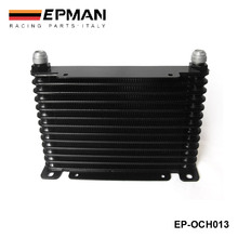 NEW DESIGN AN10 13 ROW 32MM ALLOY RACE DRAG DRIFT BLACK OIL COOLER TK-OCH013