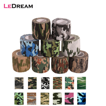 1 Roll 5*450cm Disposable Self-adhesive Flex Elastic Camouflage Bandage Tattoo Handle Grip Tube Wrap Elbow Stcik Medical Tape(China)