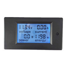 1PCS Multifunction Energy Meter LCD Crystal Digital Display Watt Voltage Power Current Amp Meter DC6.5-100V 0-20A For Indoor