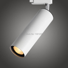 CREE COB LED Track Light Spot Rail System 12W Modern Home Ceiling Spotlights art gallery exhibition store Shop Window Lighting(China)