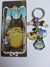 Japan Anime My Neighbor Totoro Actoin figure Doll Metal Pedant Keychain Totoro figure Xmas Gift Brand New in Box Set of 5pcs