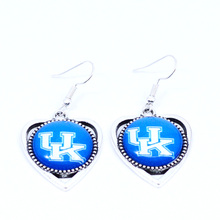 Earrings NCAA Kentucky Wildcats Charms Dangle Earrings Sport Earrings Basketball Jewelry for Women Birthday Party Gift 5 pairs(China)