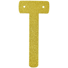 (1pc Only) 6 Inch Personalized Gold Glitter Letter Banner DIY  Garlands For Wedding Birthday Party Holiday Favors