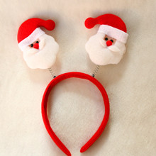 5pcs/lot Hair Band Christmas Head Band Decration Soft Santa Claus Hat Antler for Adult and Child Gift Christmas Party 2108CO