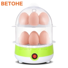 BETOHE 220V Double Layer Electric Egg Boiler Egg Cooker Steamer Pan Kitchen Cooking Tools Utensil 250W