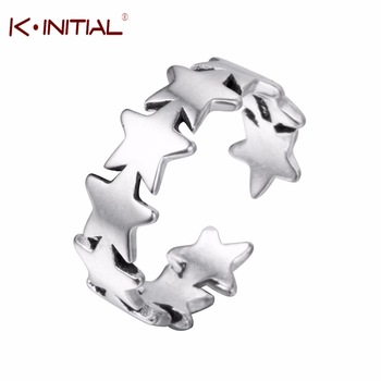 Kinitial 925 Sterling Silver New Open Mini Star Knuckling Ring Knuckle Ring Stars Rings for Women Girl Lovers