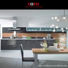 l-shaped grey lacquer kitchen cabinet manufacturer(China)