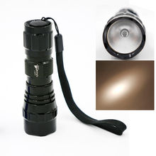 Xenon torch 10W flashlight strong light High Power flash lamp rechargeable flashlights 16340 HID Torch(16340 battery)(China)