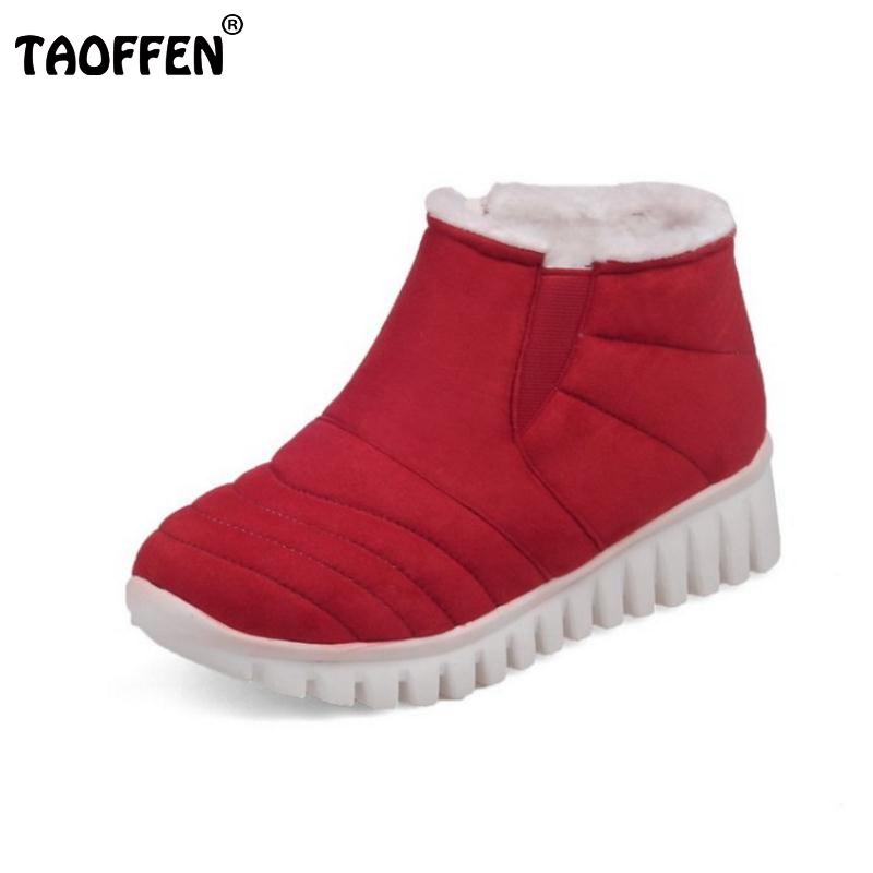 Russia Woman Flat Ankle Boots Women Brand New Soft Leisure Footwear Shoes Thickened Fur Warm Winter Botas Mujer Size 29-46<br><br>Aliexpress