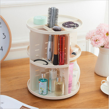 new hot fashion 360 degree rotation Plastic holder Cosmetic Organizer makeup storage rack Organizer for gifts Jewelry box casket(China)