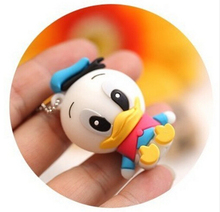 Lovely cartoon duck 2.0 usb flash drives thumb pendrive creativo memory stick  wholesale  4GB 8GB 16GB 32GB 64GB no chain S243