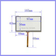 ZhiYuSun 4.3 inch 103mm*63mm 4 wire TOUCH SCREEN for gps glass 4043058 4.3 touch panel 103*63(China)