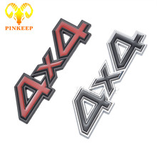 3D 4x4 Four Wheel Drive Car Sticker Logo Emblem Badge Decals For Ford Bmw Audi Lada Honda Toyota SUV 4WD Car Styling Accessories