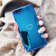 Buy Cute Blue ray love heart case iphone X 7 7Plus 8 8plus Soft silicon Mirror case iphone 6 6s 6plus back cover for $3.51 in AliExpress store