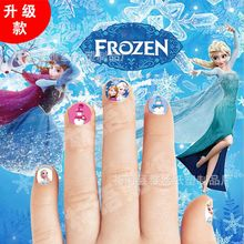 HOT Sale cartoon Waterproof 3D Nails Sticker fairy princess Design Nails Foil Sticker Decor Decals for children little girl(China)