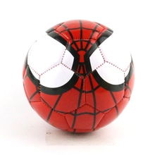 2017 Mini PVC Child Training Soccer Balls Size 2 Spider Man Football Ball Cartoon Pattern Indoor Football For Kids(China)