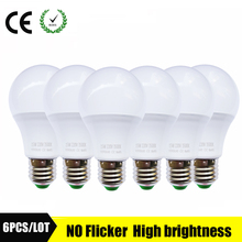 6PCS/lot LED Lamp B22 LED Bulb E273W 5W 7W 9W 12W 15W 110v 220V Real Watt aluminum cooling High Bright Lampada LED spotlights(China)