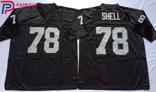 Embroidered Logo Art Shell 78 white black Throwback high school FOOTBALL JERSEY for fans gift cheap 1108-3(China)