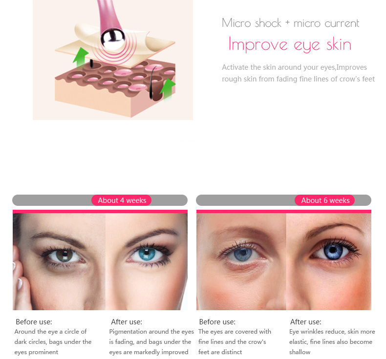 Wholesale Eye Message Stick Eyes Wrinkle Removing Pen Beauty Eye Massager Instrument Electric Vibrator Health Beauty for Women 16
