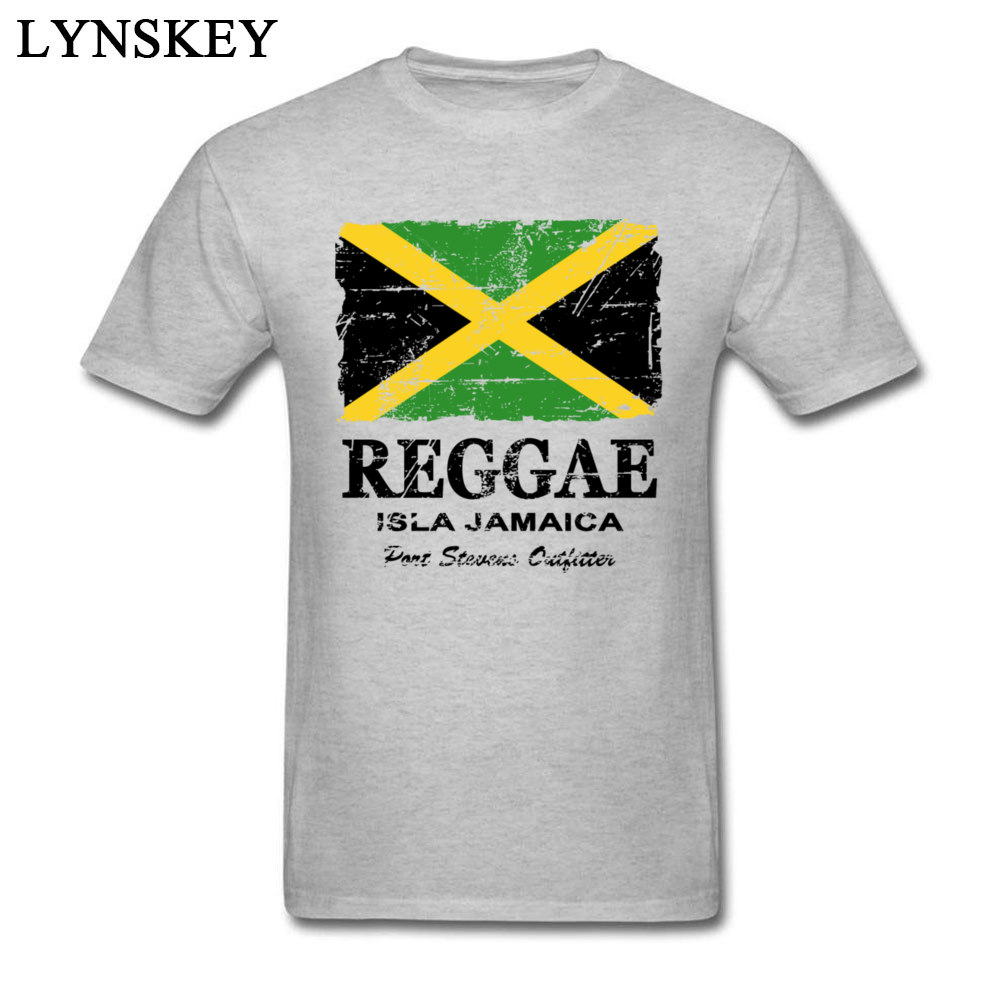 T-Shirt Normal Short Sleeve Funny Crew Neck 100% Cotton Tops T Shirt Group Summer Fall Reggae Jamaica Flag Tee Shirt for Boys Reggae Jamaica Flag grey