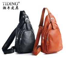 HOT SALE!  2013 Cattle  lovers cross-body bag Waist pack genuine leather triangle bag single shoulder bag 3039
