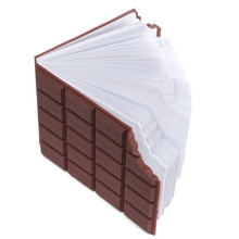 Creative Chocolate Notebook Memo Pad DIY Cover Notepad School Stationery Gift