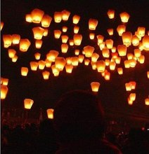 10pcs/lot Bright Color Hot Air Balloon Flying Sky Lantern Chinese Paper Kongming Lanterns For Wedding Party Activity Good Luck(China)