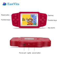 EastVita Original newest 2.5'' LCD 268 8bit Classic Games Contra Portable Handheld Video Game Player Console Kids Toys Gift r30(China)