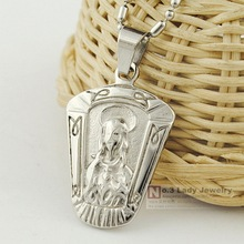 GOKADIMA Middle Ages religion portrait jewelry Wise pendant necklace figure stainless steel classical for men nice looking WP438