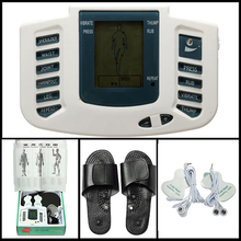 American Store! Hot Sale Digital Stimulator Massager Full Body Relax Pulse Acupuncture Therapy with Slipper Body Massager(China)