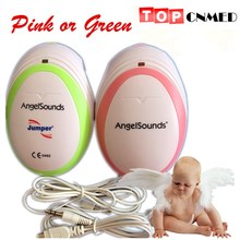 Listening your baby heart!!! Angelsounds Fetal Doppler portable fetal heart monitor, with earphone and USB cable for pregnancy