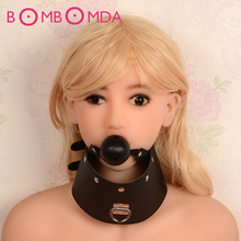 Necklace Mouth Gap Leather Mouth Ball Stuffed Mouth Gap Plugs Collars Slave Bandage Sex Toys Products Adult Games for women O3