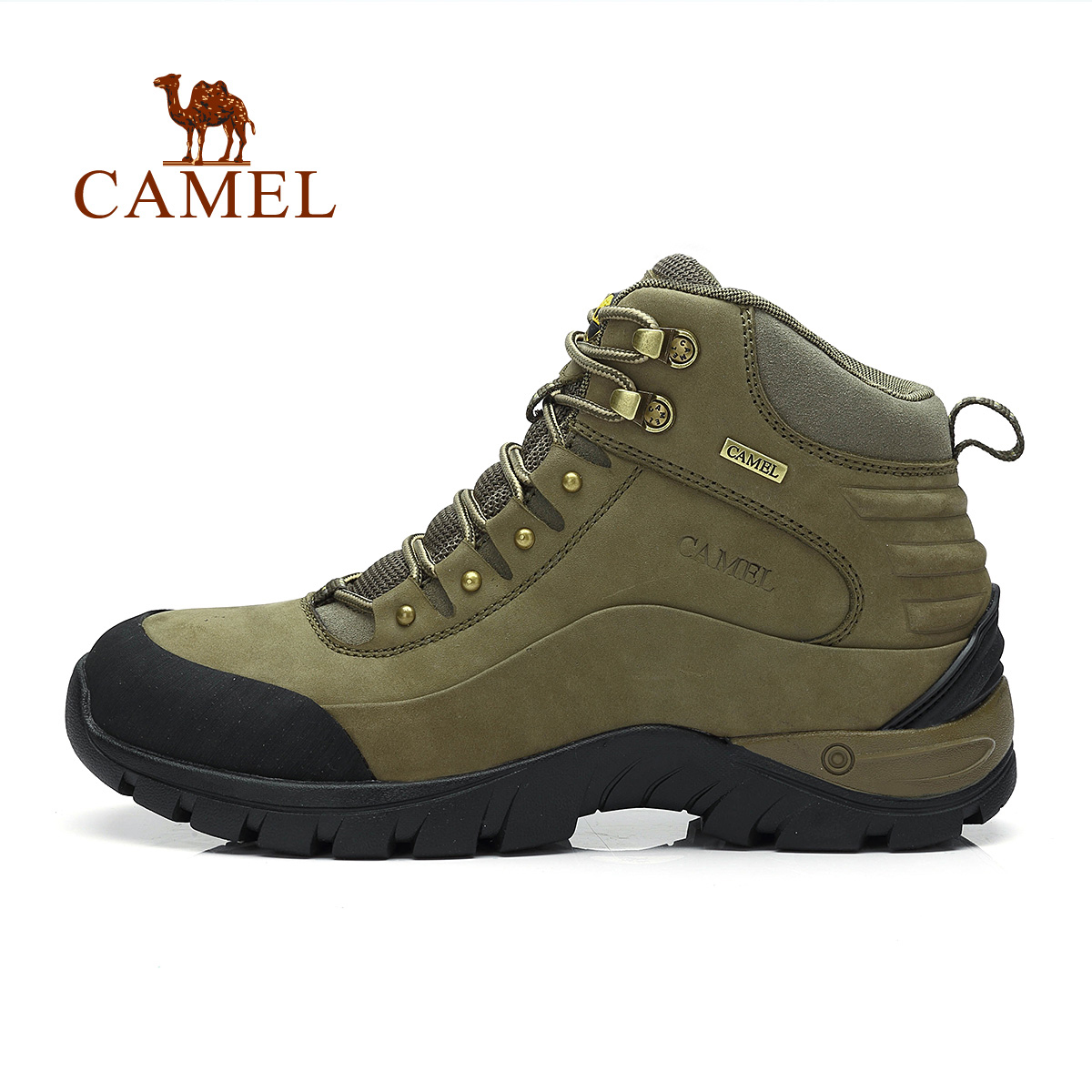 Camel Outdoor Walking Shoes Male High Wear-resistant Nubuck Leather Shoes Shock Absorption Outdoor Hiking Climbing Footwear  <br><br>Aliexpress