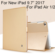 "High Quality Case For Apple New iPad 9.7"" 2017 Cover TPU+PU Leather Protective Skin For iPad Air 1 Air 2 Tablet Accessories+gift"