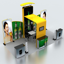 Portable 20ft*10ft Fabric Trade Show Display  Booth Wall Pop up banner stand podium TV mount Tradeshow displays