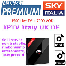 6 months Sky Italy IPTV subscription iptv Italy UK France Spain Sky Mediaset Premium for Android Box M3u Enigma2 IOS Smart TV