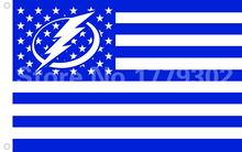 Tampa Bay Lightning ee.uu. Premium Wordmark Hockey Flag 3X5FT Tampa Bay Lightning con estrella y raya de la bandera del equipo(China)