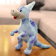 new plush Giant spines dinosaurs toy cartoon blue dinosaur doll gift about 40cm