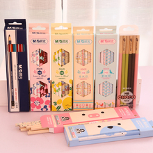 12 pcs Standard pencil Cartoon HB pencils for drawing lapices Stationery Office school supplies material escolar infantil 6868(China)