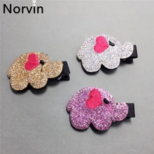 Norvin Elephant Hair Accessories Girl Hair Clip For Kids Hairpin Headdress Girl Hair Accessories 3 Pcs/lot Festival Gift