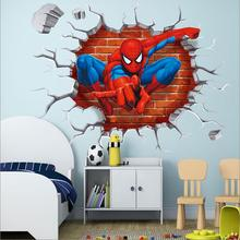 2017 3d Spiderman wall stickers for kids rooms decals home decor personalized Kids Nursery Wall sticker decoration for Boy room