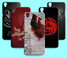 Ice and Fire Cover Relief Shell For OPPO R9 Plus R9S Cool Game of Thrones Phone Cases For OPPO R1S R1L R8007(China)