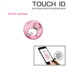 Cute Cartoon Touch ID Home button Sticker for IPhone 7 5s 6 6s 8 plus Support Fingerprint Unlock