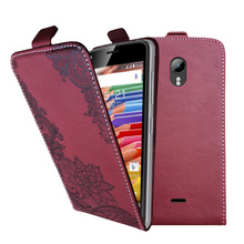 3D Stereo Embossing lace flower butterfly flip up and down leather phone bag cover case for Micromax Canvas Pace 2 Q480