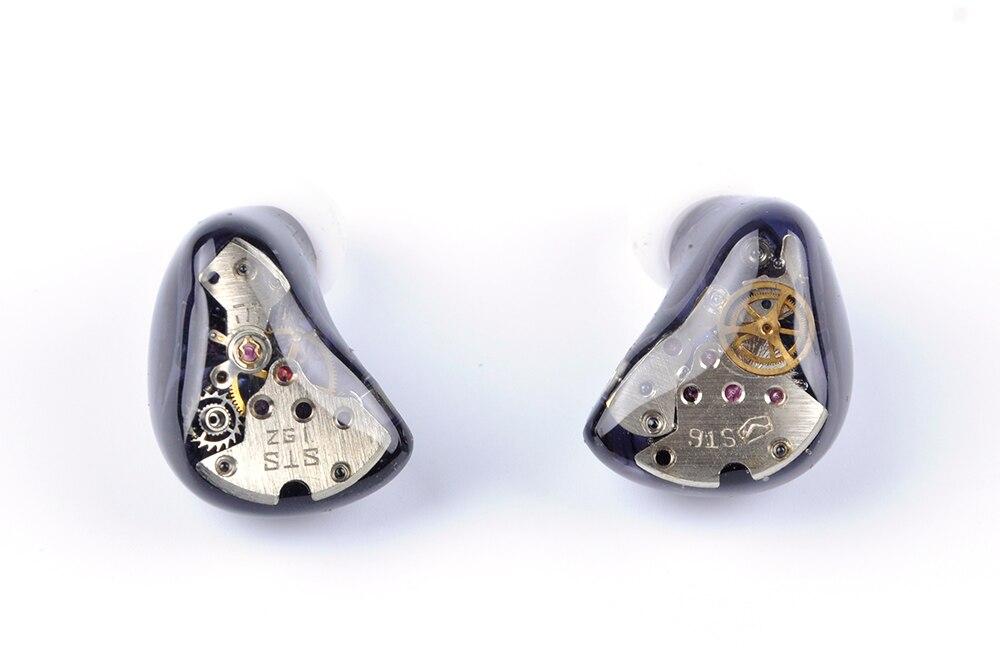 Wooeasy 3BA+1DD Gear in Ear Earphone Custom Made Hybrid Around Ear Earphone With MMCX Plated Earphone