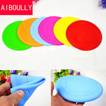 2016 Soft Flying Flexible Disc Tooth Resistant Outdoor Large Dog Puppy Pets Training Fetch Toy Silicone Dog Frisbee Wholesale(China)