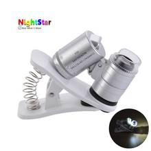 60x Zoom Universal Cell Phone Loupe Microscope Lens Magnifier Micro Camera For iPhone 6 5S 4S Samsung Holder Color Random