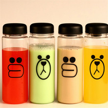500ml Fashion multipurpose Plastic My Water Bottle Tour Outdoor sports Cartoon Bear bottle lemon juice readily cup space cup